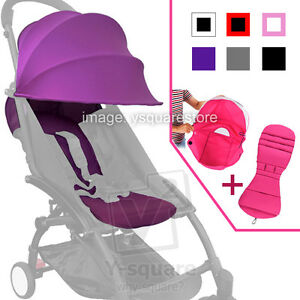 Image is loading Universal-Baby-Stroller-Canopy-Hood-Seat-Pad-Liner-  sc 1 st  eBay & Universal Baby Stroller Canopy Hood Seat Pad Liner Set Sunshade ...