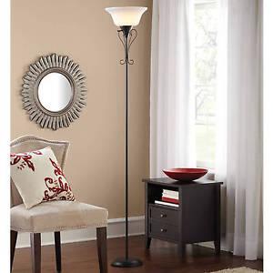 Floor decor lamp elegant living room scroll torchiere - Elegant floor lamps for living room ...