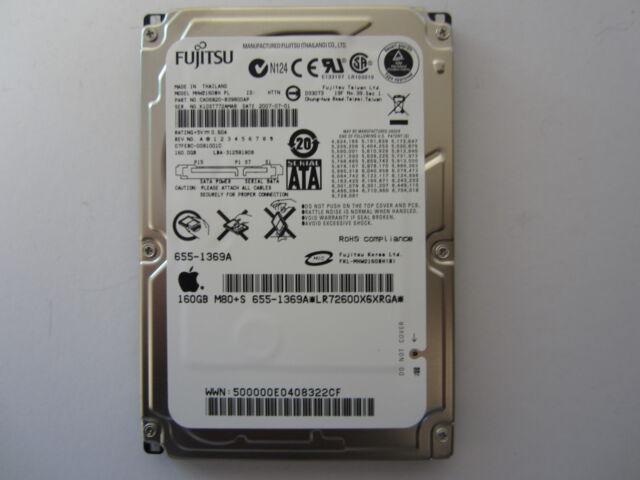 """NEW SEALED Fujitsu 160GB 2.5/"""" SATA Hard Drive MHW2160BH PL CA06820-B39800AP"""