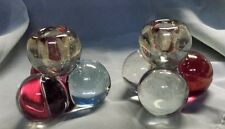 Vintage Westmoreland Glass Hand Made 3 Ball Candle Holders Set of 2