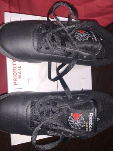 Reebok Womens Princess Black Fashion Sneaker Size