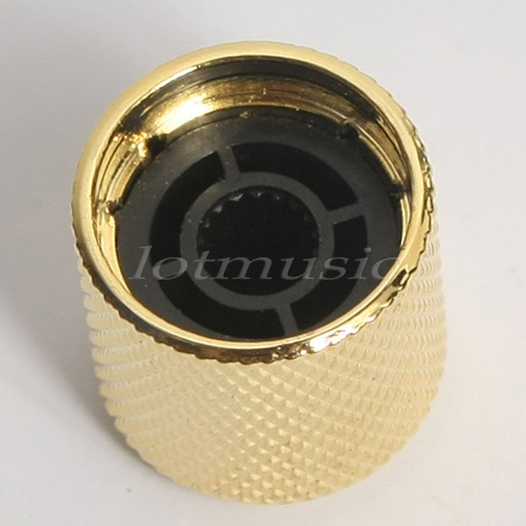 2pcs gold metal electric guitar knobs dome knob for fender