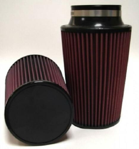 """Red 6.25/"""" Base 89-95 Mustang 5.0L Conical Air Filter: 3.5/"""" Flange 8/"""" Length"""