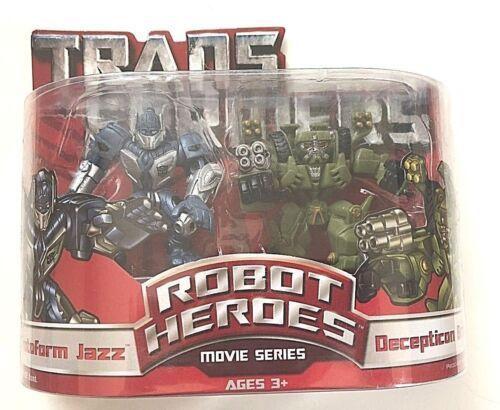 Transformers Robot Heroes Movie Series Protoform Jazz /& Decepticon Brawl Hasbro