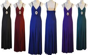 BNWT-Ladies-women-Long-Evening-Stretch-Strappy-Maxi-Dress-Size-S-M-L-XL