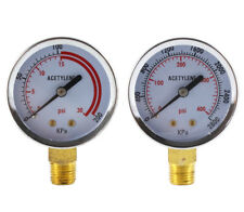 Low And High Pressure Gauges For Acetylene Regulator 2 Inches 14 Npt Pair