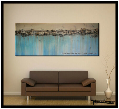 ABSTRACT PAINTING Large Modern Canvas WALL ART Framed Signed USA  ELOISExxx