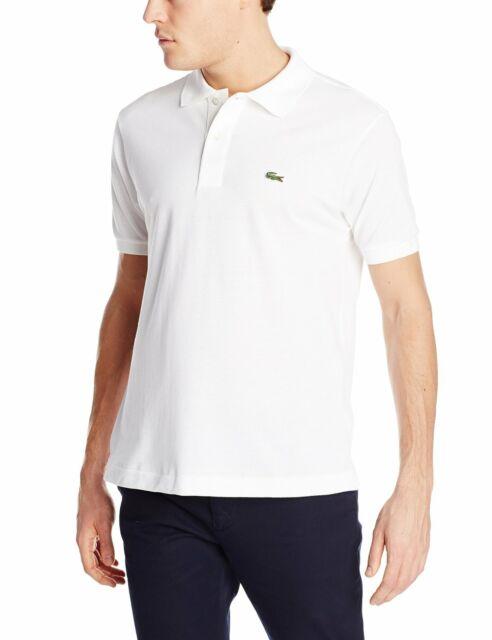 Lacoste Short Sleeve Classic Pique Polo Shirt - Mens 8 White