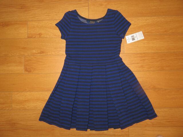 Girls Clothes Dress Ralph Lauren Polo Dresses Crested P Patch Rugby Sz XL//16 NEW