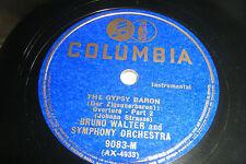 "BRUNO WALTER 12"" 78 RPM STRAUSS Gypsy Baron part 1 & 2 Columbia 9083-M EX"
