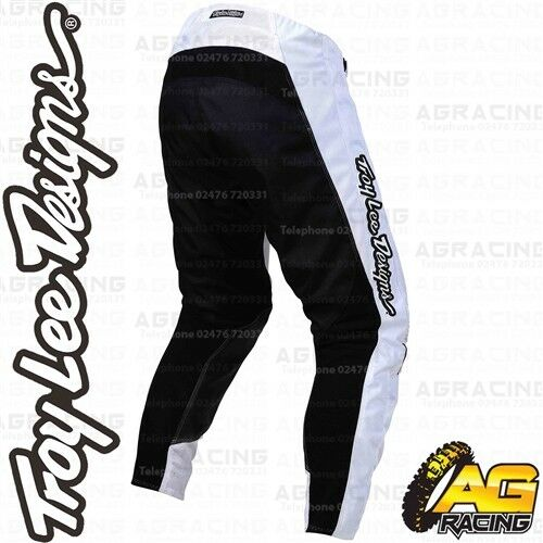Troy Lee Designs 2019 GP Air Mono Noir Blanc Course Pantalon Motocross Enduro Quad