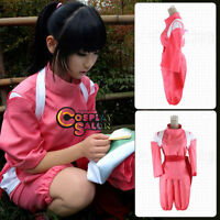 Anime Spirited Away Chihiro Women Costume Fancy Party Pink Cosplay Clothing