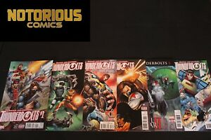 Thunderbolts 1 2 3 4 5 6 Complete Comic Lot Run Set Marvel Zub EXCELSIOR BIN