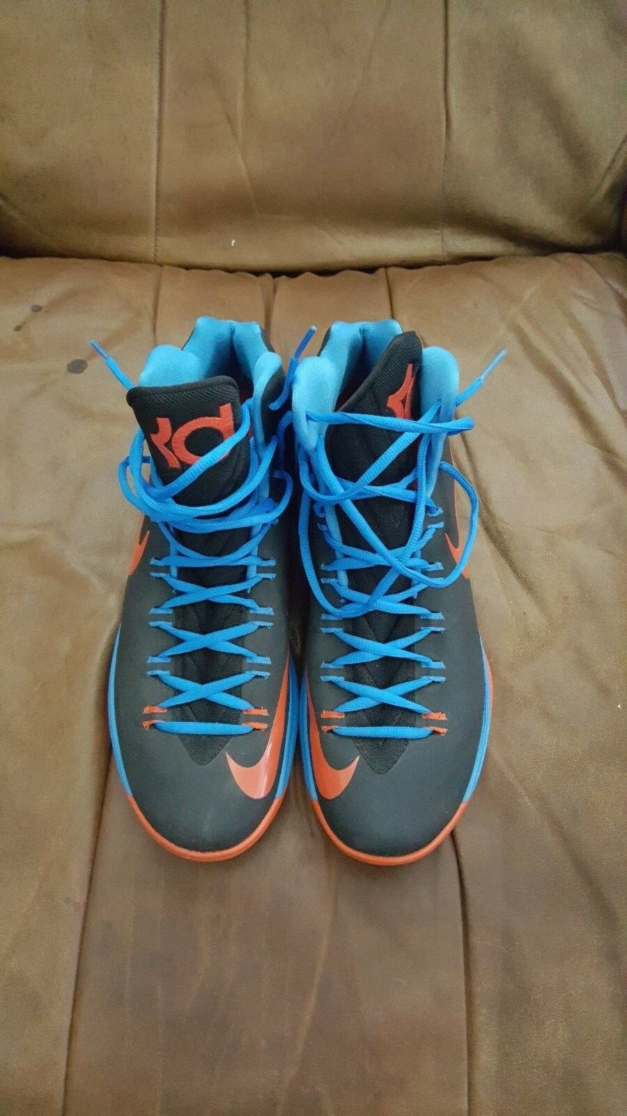 The latest discount shoes for men and women Nike KD 5 Thunder Away Blue Orange Comfortable