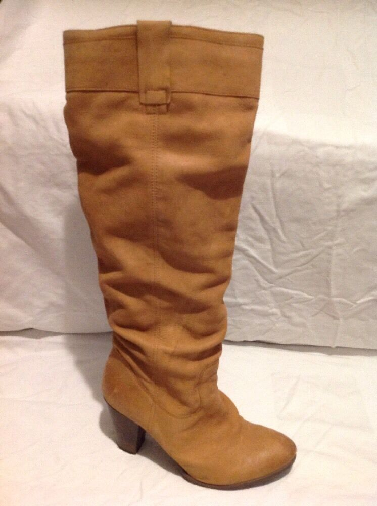 Roberto Vianni Brown Knee High Leather Boots Size 40