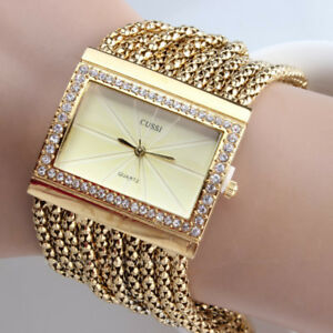 95f4c868c Luxury Quartz Women's Wrist Watch Lady Girl Simple Gold Diamond ...