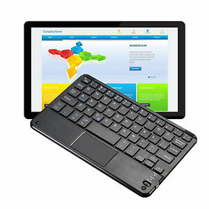 New Slim Mini Bluetooth Wireless Keyboard Touchpad For Laptop Pc