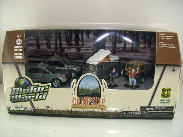 '16 máquina verde verdeLight Chase campamento Cruisers Diorama Set