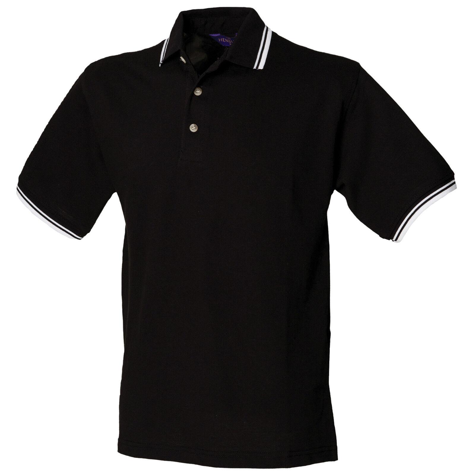 Coton Contraste Polo xxl Henbury 100 Double Tipped H150 Shirt Pique S q1BnwIUxB