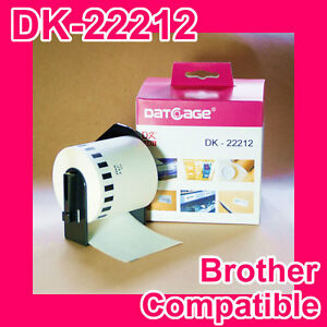 1-Roll-of-Compatible-Brother-DK-22212-White-Continuous-Film-Roll