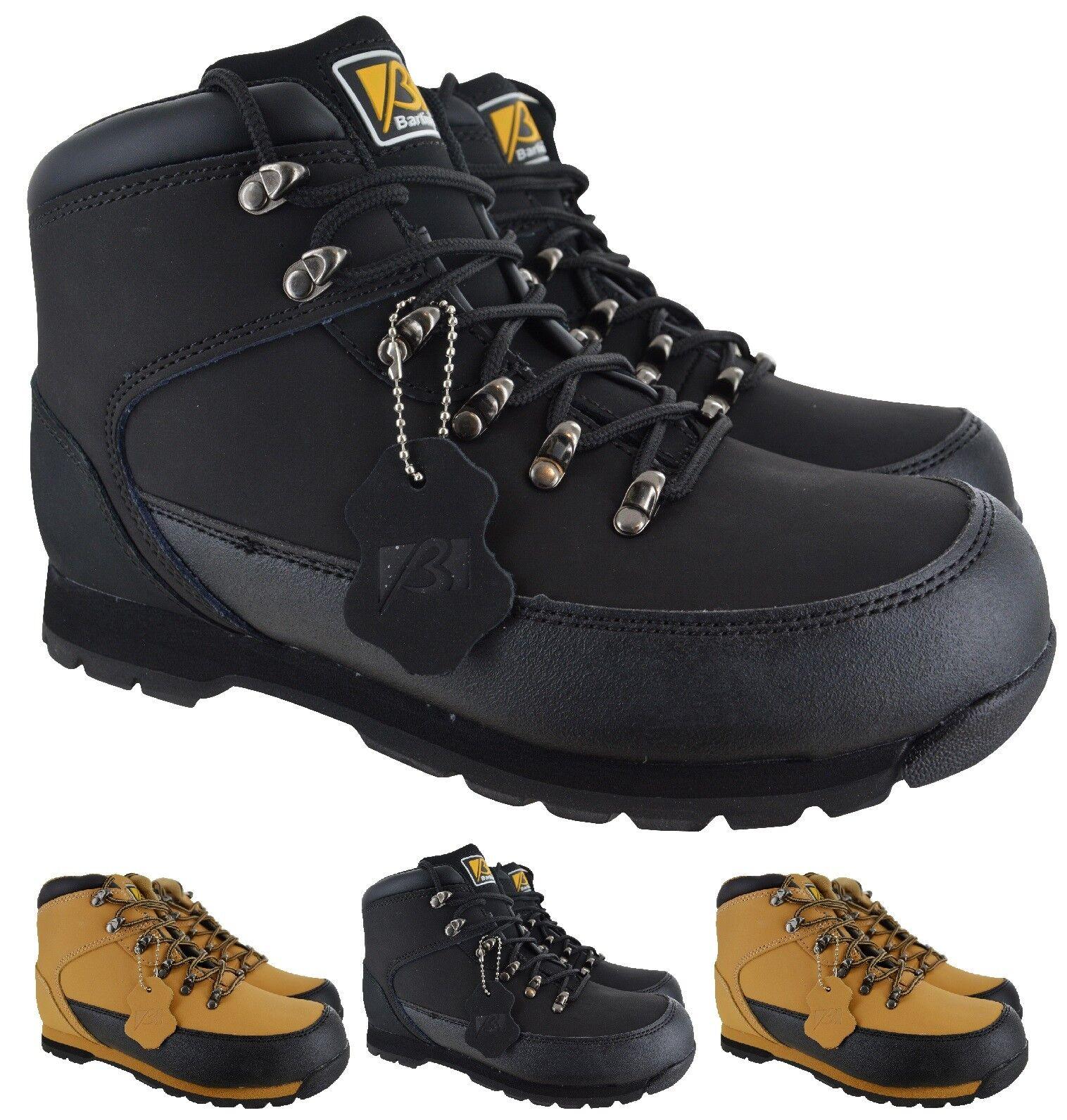 Da Uomo in Pelle Sicurezza Lavoro Stivali Acciaio Punta   Trainer escursionista Taglia 6-12 vendita