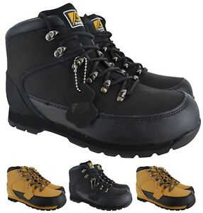 8dae0c3f4b MENS LEATHER SAFETY WORK BOOTS STEEL TOE CAP SHOES TRAINER HIKER ...