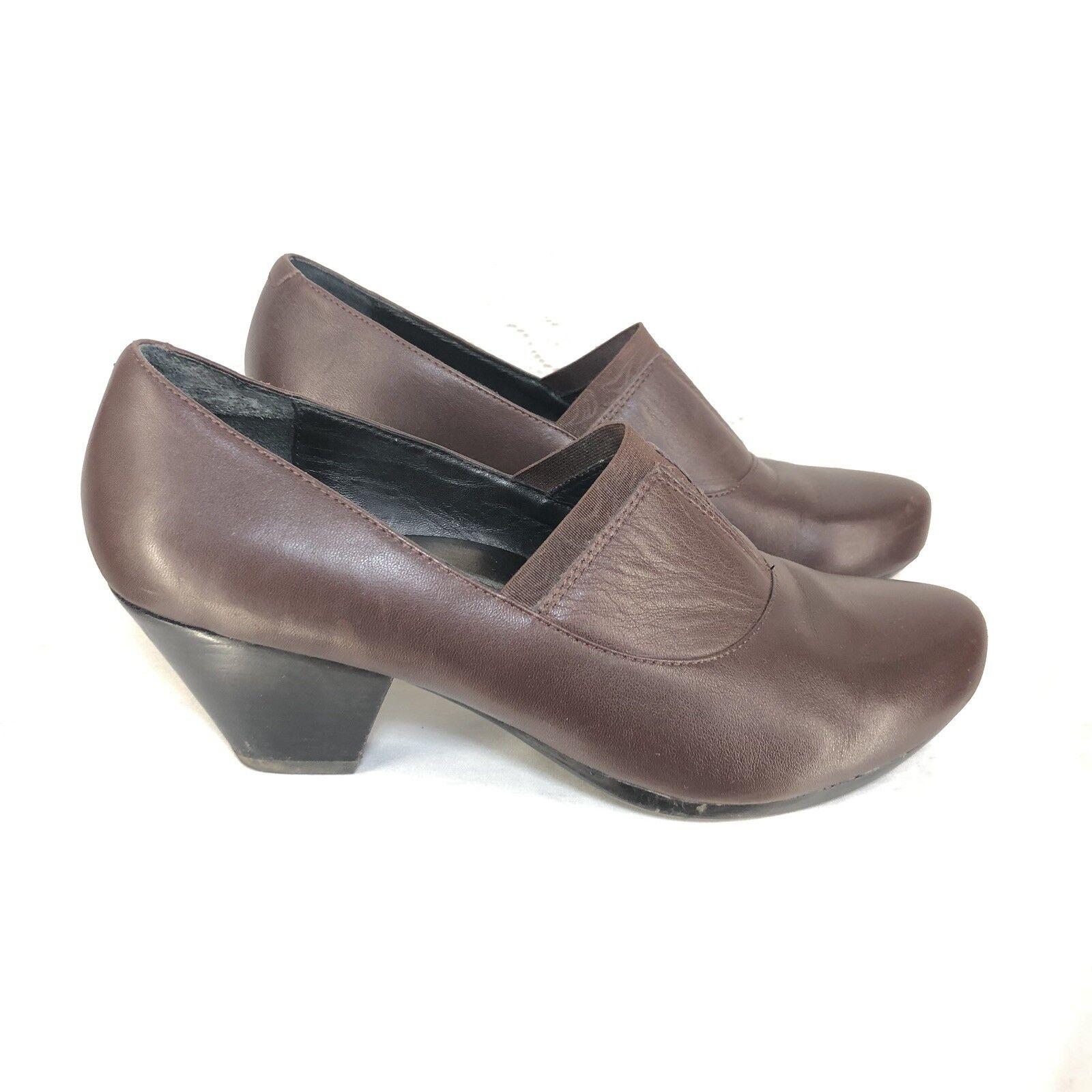 B52 Dansko damen Chunky Heel schuhe Sz 7.5 - - - 8   38 braun Leather Loafer Stiefelie 9791a0
