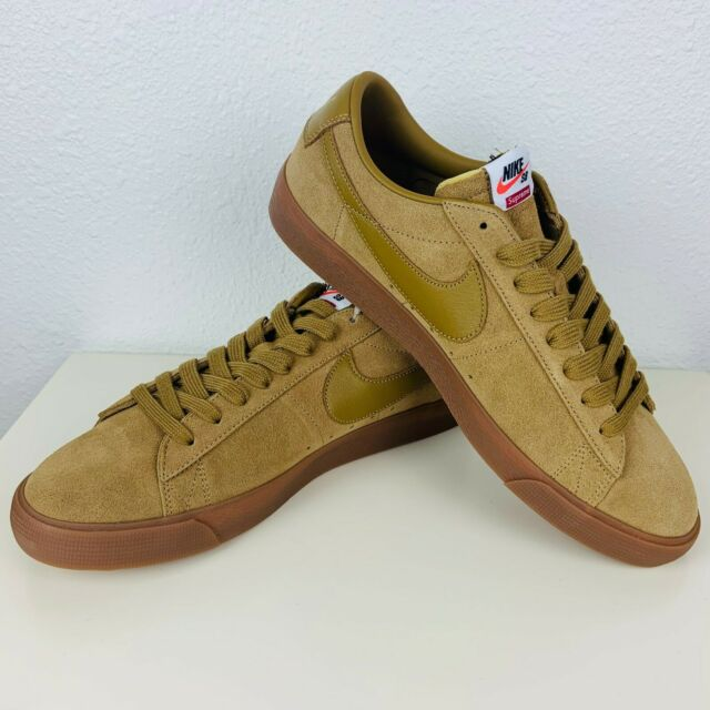 huge selection of a6bfe b26a3 Supreme X Nike SB Blazer Low GT QS Beige Brown Mens Size 10.5 Sneakers  Skate FTW