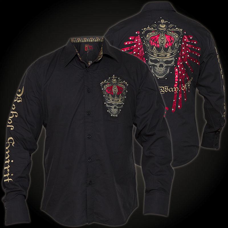 Rebel Spirit Camicia lsw141667 NERO camicie da uomo Rebel Spirit lsw141667