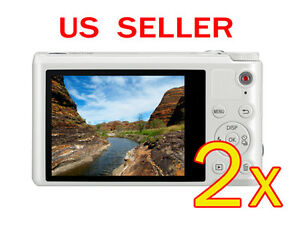 2x-Samsung-WB250F-Clear-LCD-Screen-Protector-Guard-Shield-Film