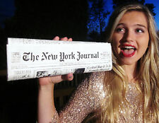 Authentic Kate Spade NEW YORK Newspaper Clutch PURSE BAG + BETSEY JOHNSON BELT M