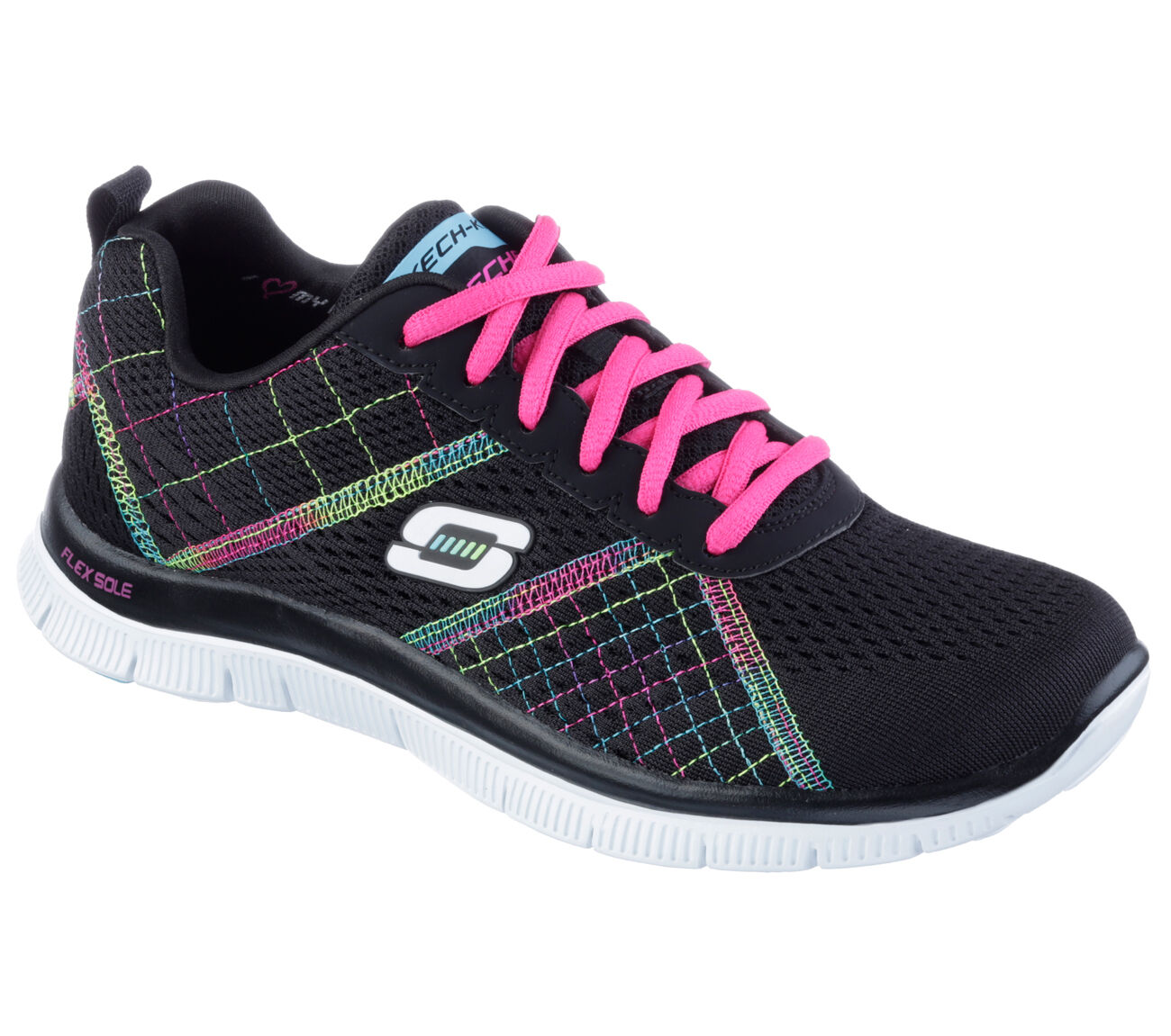 Skechers Memory Foam Flex Appeal Totally Fab Womens Running shoes Trainers 12072