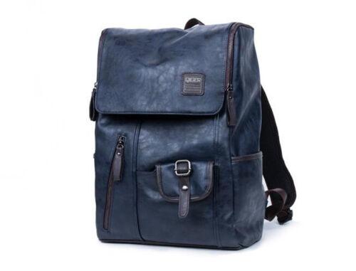 Vintage PU Leather Men Women Backpack Bag Shoulder Briefcase Rucksack Laptop Bag