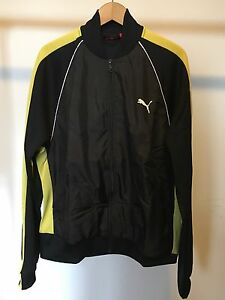 9361aa38 Details about Puma Men's Black And Yellow Track Jacket