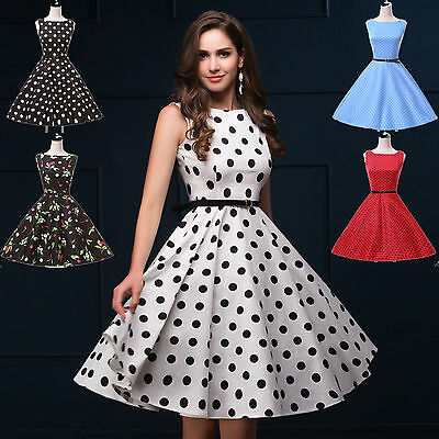 Fashion sale Vintage Lady Swing 40s 50s 60s Housewife Pinup Rockabilly Dresses