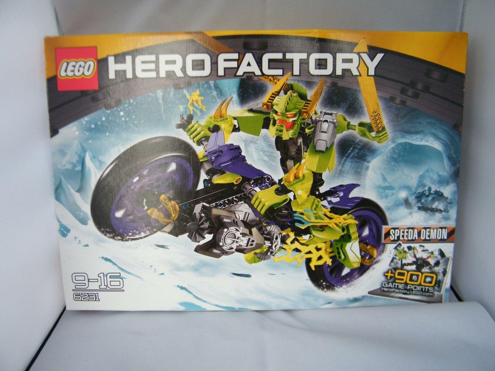 NEW Rare Lego Hero Factory 6231 SPEEDA DEMON Box & Instruction Figure Motorbike