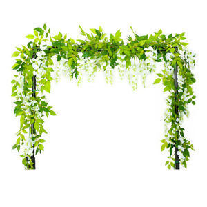 4x-Artificial-Flowers-Wisteria-Garland-Vine-Rattan-Hanging-Wedding-Floral-Decor