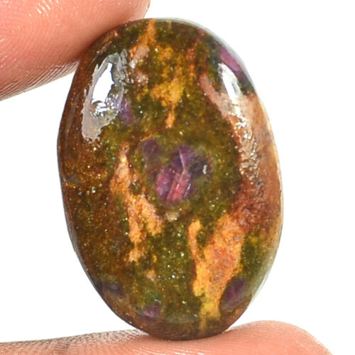 100/%Natural Ruby in Fuchsite oval pear Mixed Cabochon Gemstone