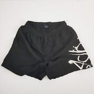 BADBOY-Black-White-Graffiti-Boys-Men-Boardshorts-Surf-Shorts-Drawstring-Pocket