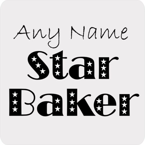 PERSONALISED STAR BAKER STARS PRINT 9CM SQUARE COASTER BIRTHDAY CHRISTMAS