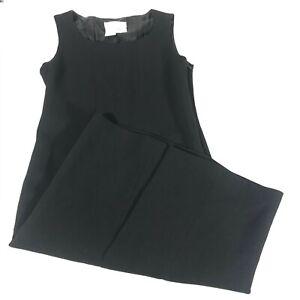 Max Mara Black Sleeveless  Sheath Dress Women's Size 6 Wool