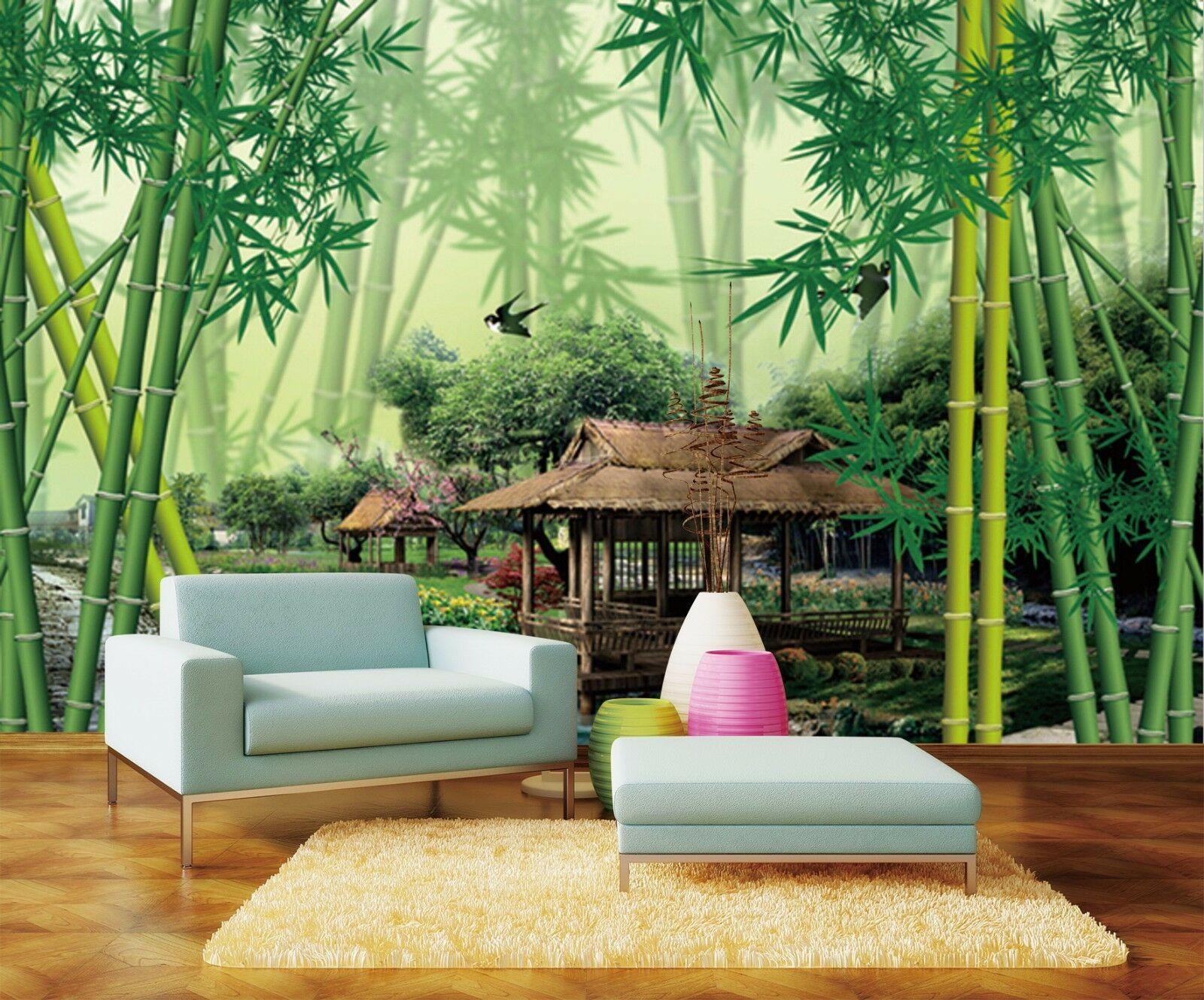 3D Bamboo Forest 1111 Wall Paper Wall Print Decal Wall Deco Indoor AJ Wall Paper