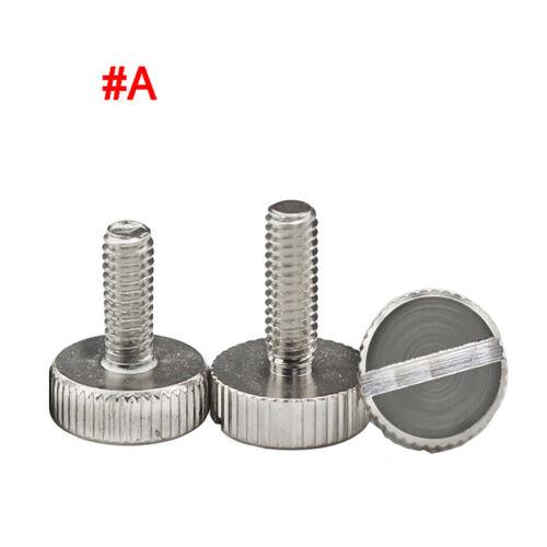 Slotted Thumbscrew M3 M4 M5 Carbon Steel Knurled Thumb Screws or Knurled