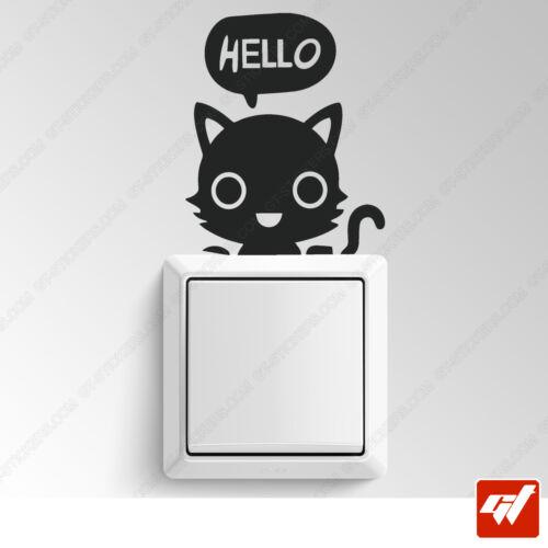Stickers Autocollants chaton manga anime design hello interrupteur deco ITER7