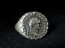 Sterling Silver Ring with an Ancient Roman Coin, Unique Artwork!