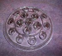 Vintage Glass Flower Frog 16 Hole For Vase Or Bowl 5 Wide