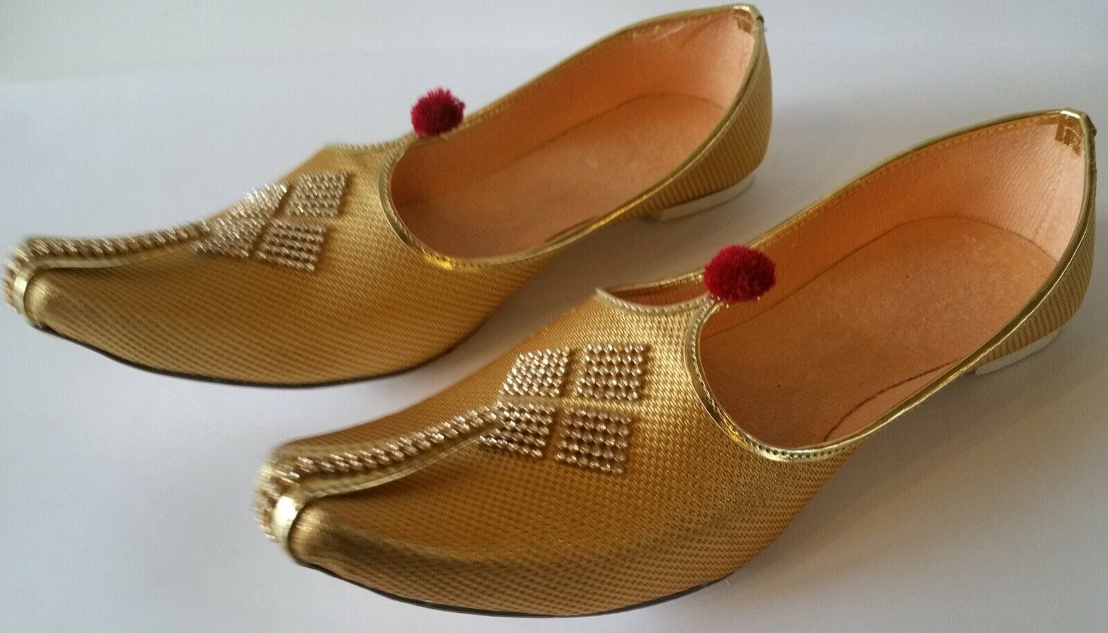 Mens Moje - Indian traditional Wedding/Party shoes - Gold