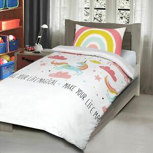 Unicorn-Horse-Magical-Rainbow-Kids-Girls-Childrens-Bedding-Quilt-Duvet-Cover-Set