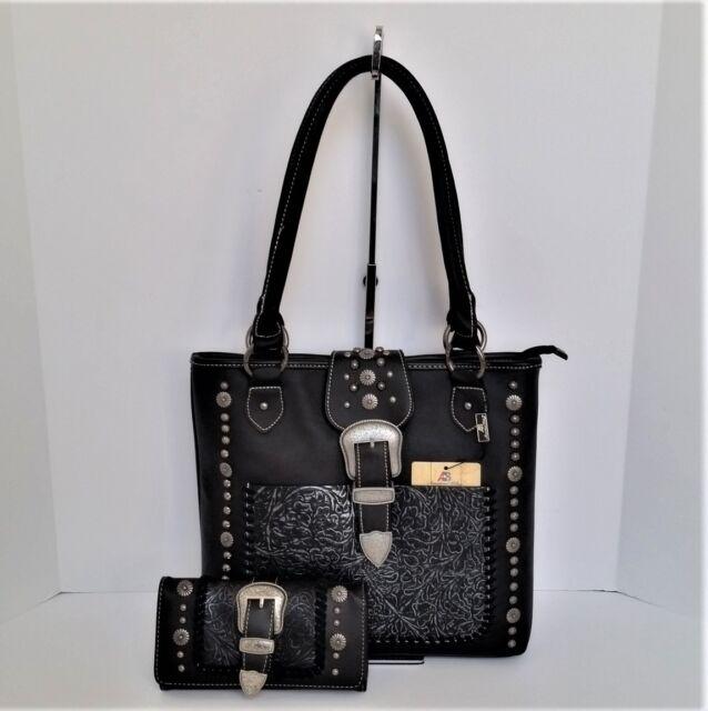 Montana West Buckle Collection Purse Matching Wallet Designer Western Handbag