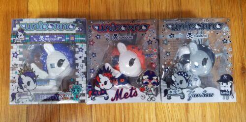 New York Comic détenu 2019 Tokidoki METS /& Yankees /& LIBERTY Unicorno Exclusive Set sur la main